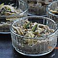 Purée de kasha et maquereau au poivre