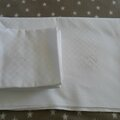 Service de table nappe 10 serviettes coton damassé 85€