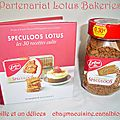 Partenariat lotus bakeries