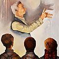 Une ombre, une histoire - 65x54cm - Acrylique sur toile - Disponible Inspirée d'une illustration de Norman Rockwell