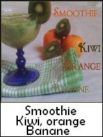 smoothie kiwi orange banane