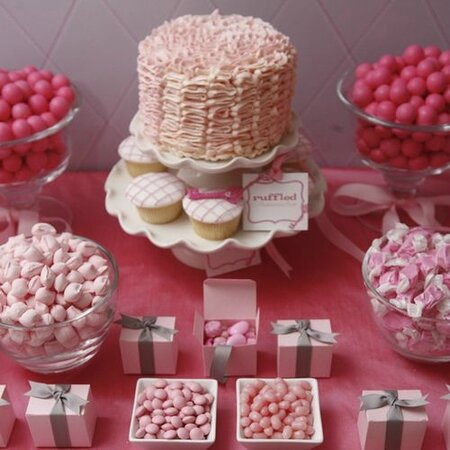 candy bar et sweet table