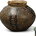 A neolithic painted pottery jar, majiayao culture, banshan type, gansu province, late 3rd millenium bc