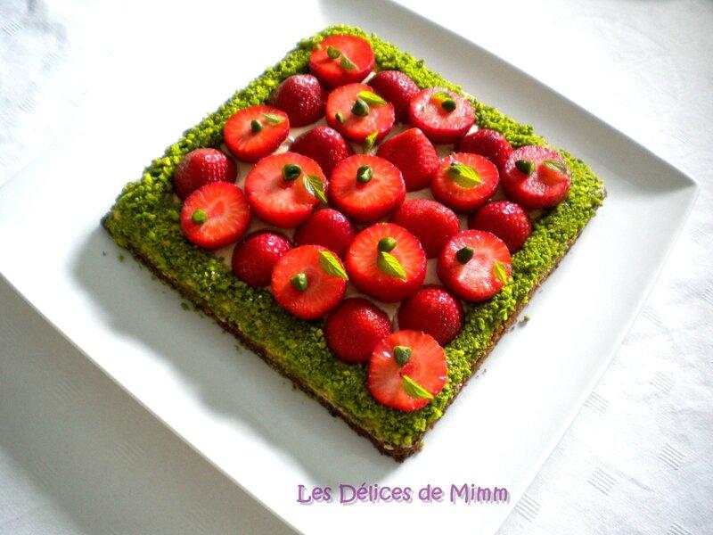 Sablé breton, fraises et caramel au beurre salé de Christophe Adam 6