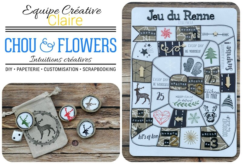 Chou&flowers-jeu du renne-collage#1-claire-scrapathome