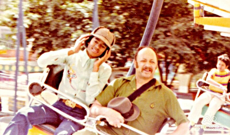 Michael Jackson with his bodyguard Bill Bray at an amusement park while on a break from touring with the Jackson 5 Caracas, Venezula - 1977