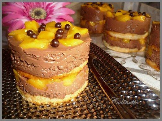 dacquoise sans gluten choclat et mangue 01