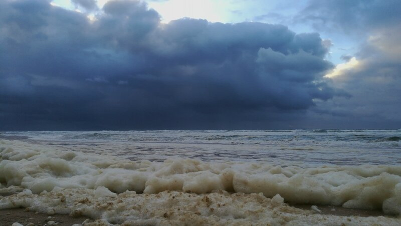 Bidart, plage d'Ilbarritz, automne, nuage visage (64)