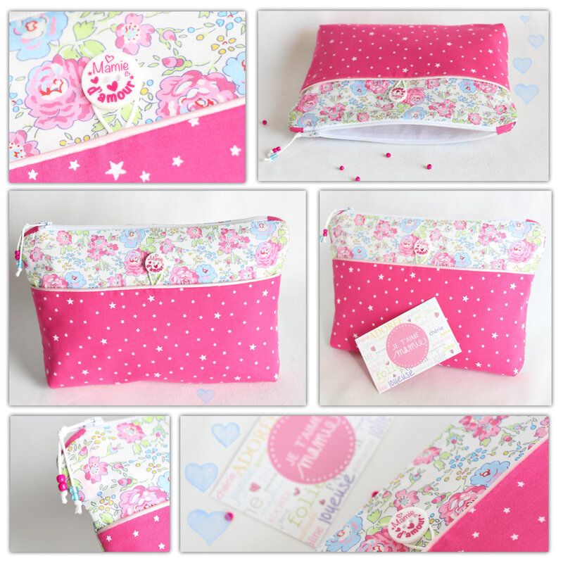 trousse rose maman