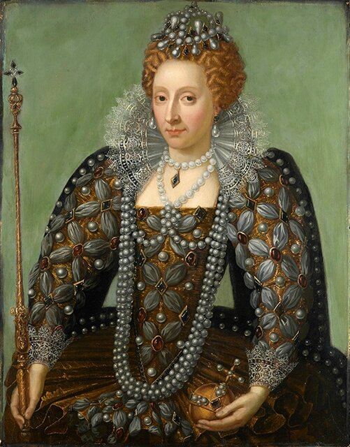Queen Elizabeth I by Unknown artist, early 17th century with 18th century overpainting