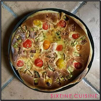 Clafoutis tomates courgette 2