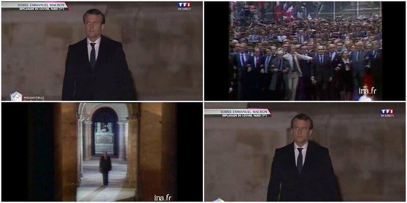 VIDEO-Apres-Mitterrand-au-Pantheon-voici-Macron-au-Louvre