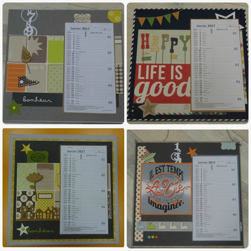 Collage calendrier