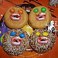 Donuts vampires pour halloween