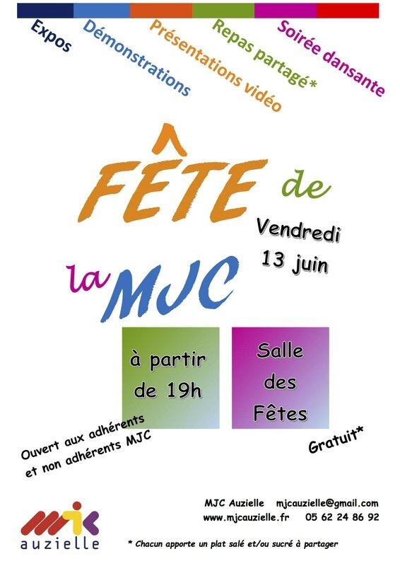 Affiche Fete MJC 2014