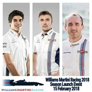 williams martini racing stroll sirotkin kubica