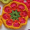 Fleur africaine au crochet : tutoriel