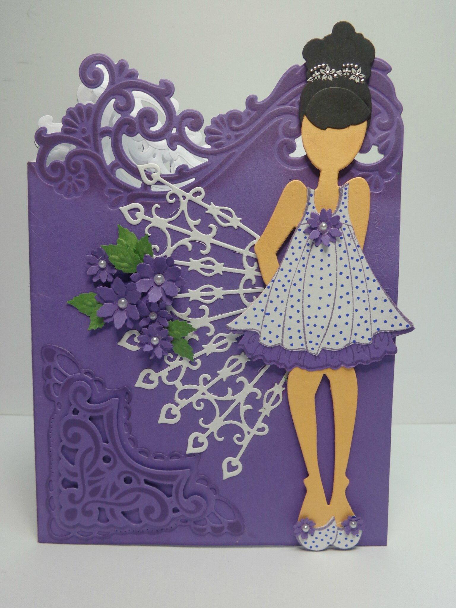"Carte ""Doll Violetta"""