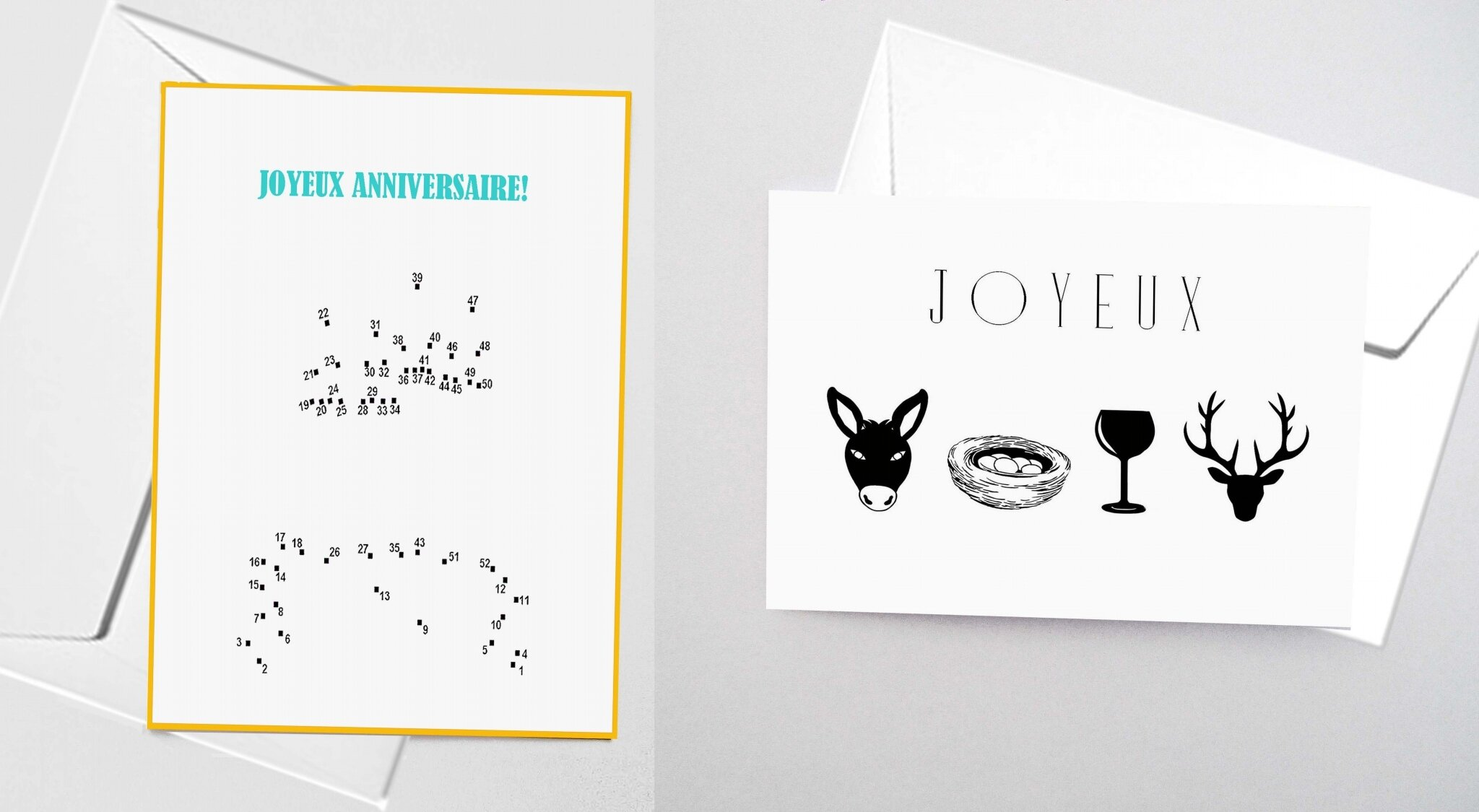 Cartes D Anniversaire Points A Relier Ou Miska Creations