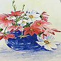aquarelle modèle fleurs