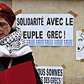 Manifestation en solidarité avec les grecs