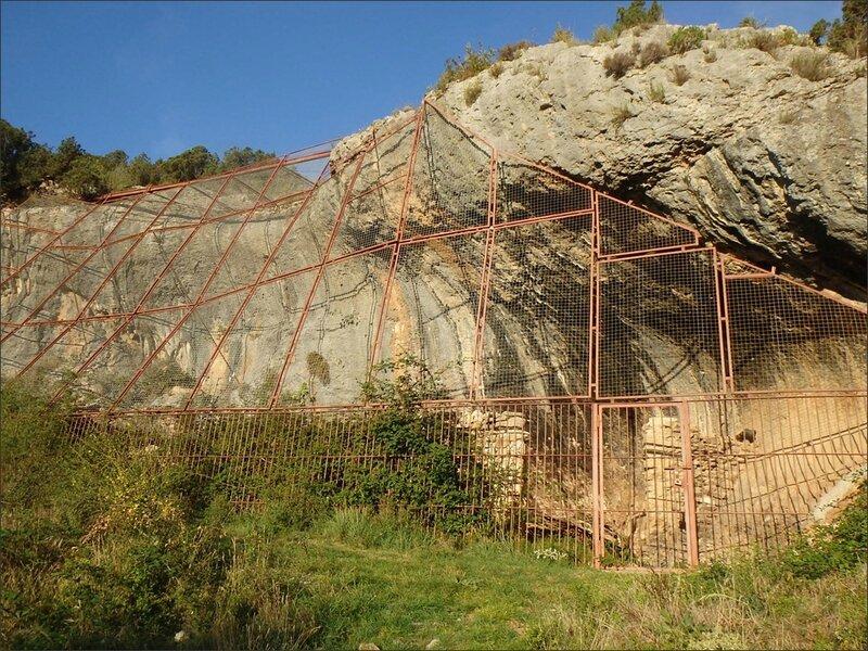 Guara Arpan grotte grille 280815