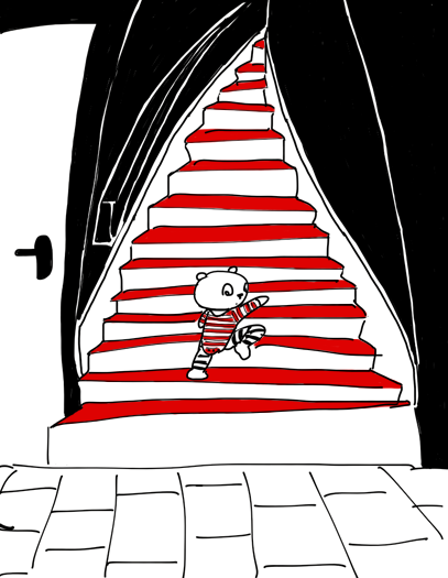 bebe monte les escaliers