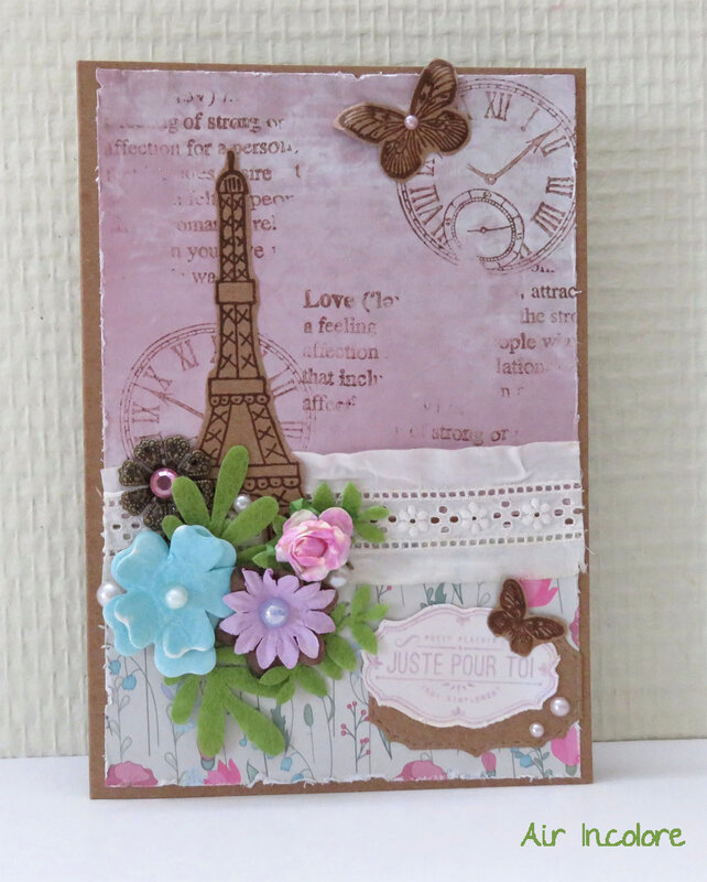 Shabby card In Paris