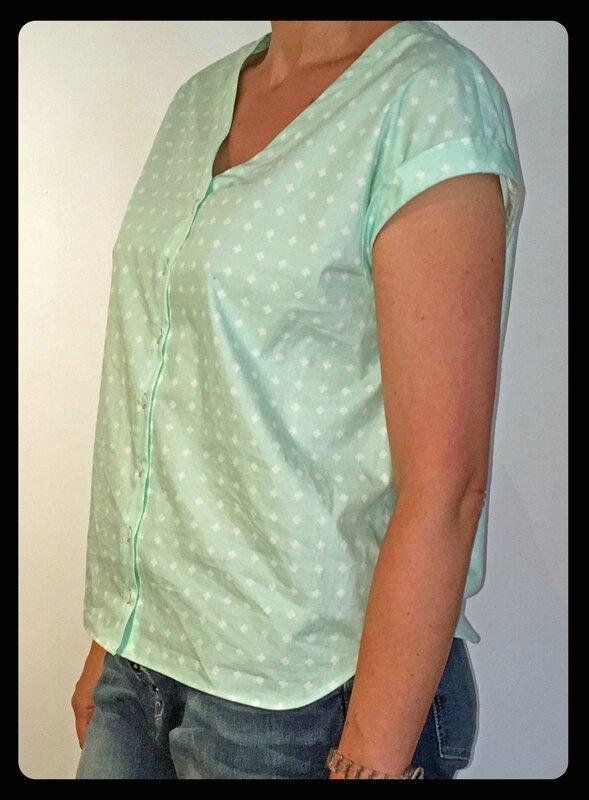 blouse verte -1