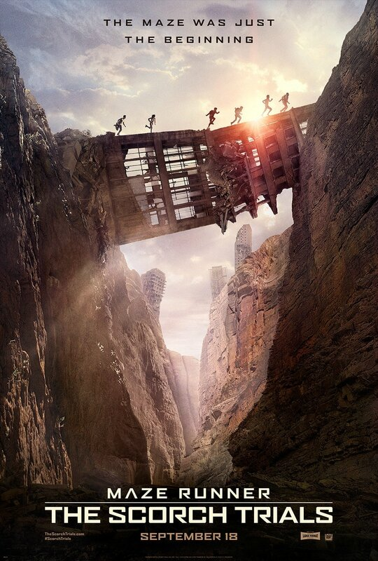 The Maze Runner The Scorch Trials movie poster