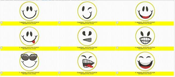smiles appliqués 10x10