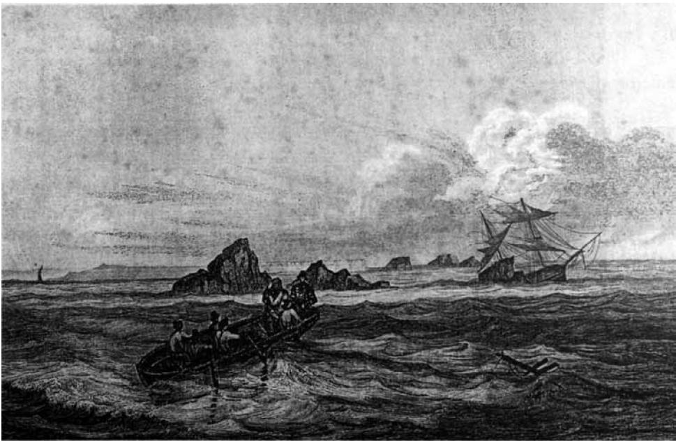 Le naufrage d'un bateau