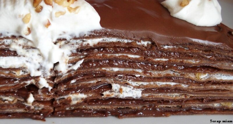 gâteau de crêpes chocolat D