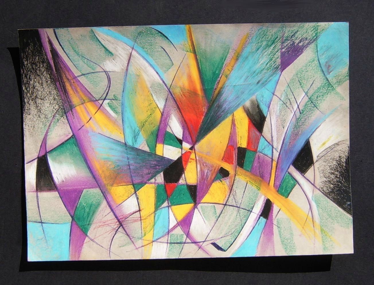 Graphisme jeu de lignes et de couleurs crayon ghislaine - Jeu de peinture en ligne ...