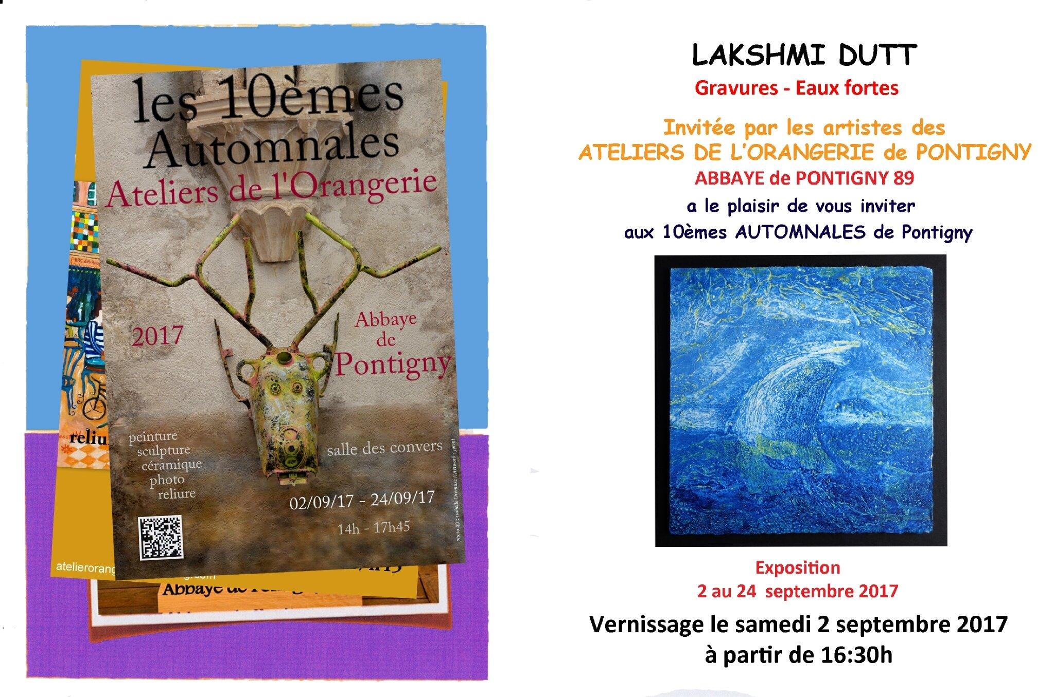 Prochaine Exposition Xes Automnales des Ateliers de l'Orangerie - Pontigny