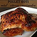 Poulet rti au miel et au citron
