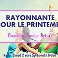 Nantes : «rayonnante pour le printemps» (samedi 21 mars 2015)