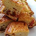 Cake tomates chorizo