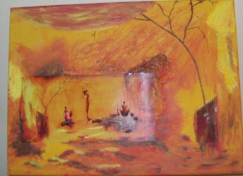 choucher de soleil d'afrique (carte postale)