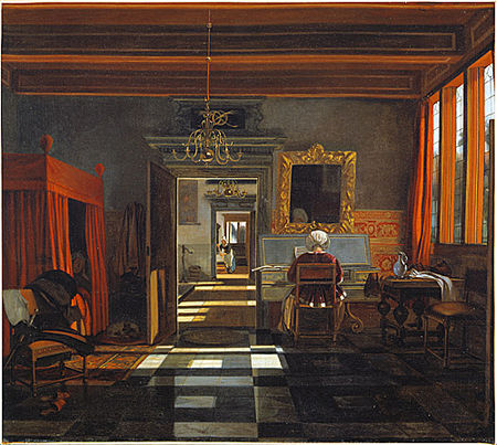 Emmanuel_de_witte_Interior_with_a_woman_in_the_virginal