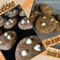 Cookies pte de spculoos & chocolat blanc