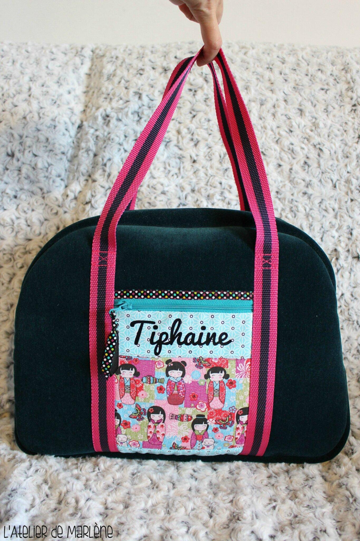 sac de sport forme BOWLING personnalisé Tiphaine