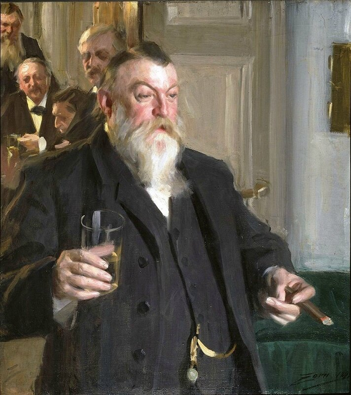 anders zorn a toast in the Idun society