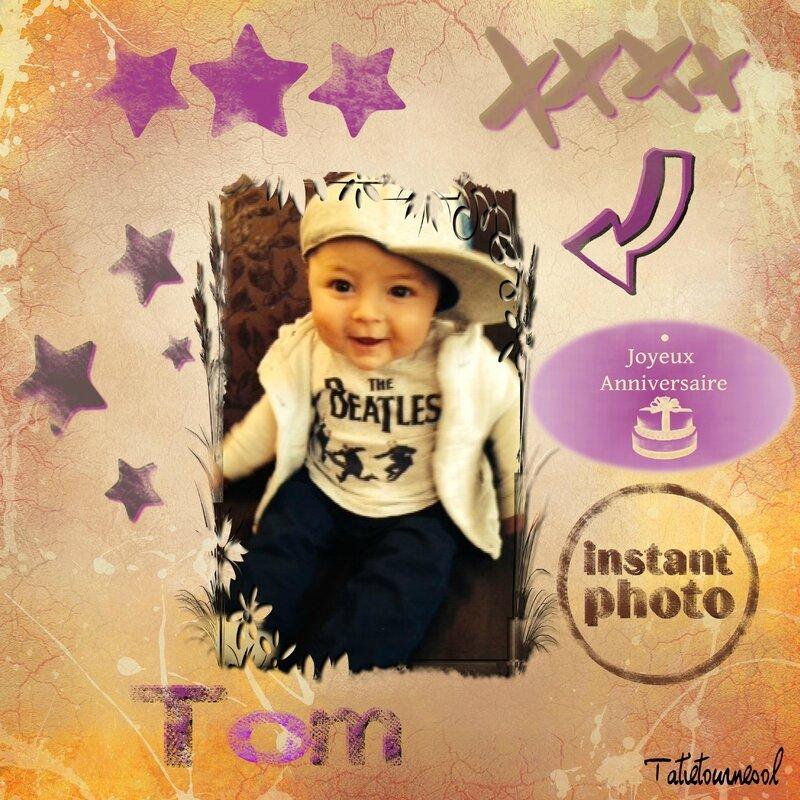 anniversaire Tom 1 an