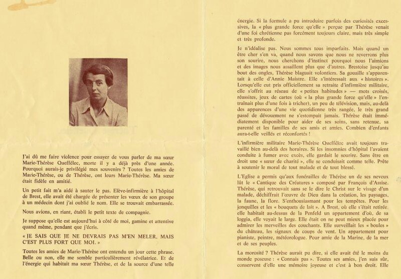 Marie Therese 1913-1983 page 1 de 2