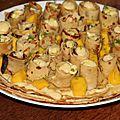 Gateau de rosettes de crepes au citron