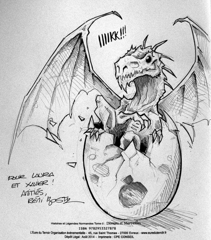 dédicace remi bostal cidre et dragon 2014 dragonneau