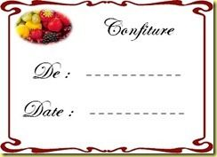Etiquette confiture 1