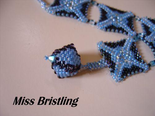 toupir fermoir serenity bead bleue