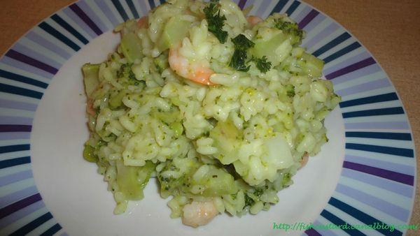 Risotto brocolis-crevettes (2)